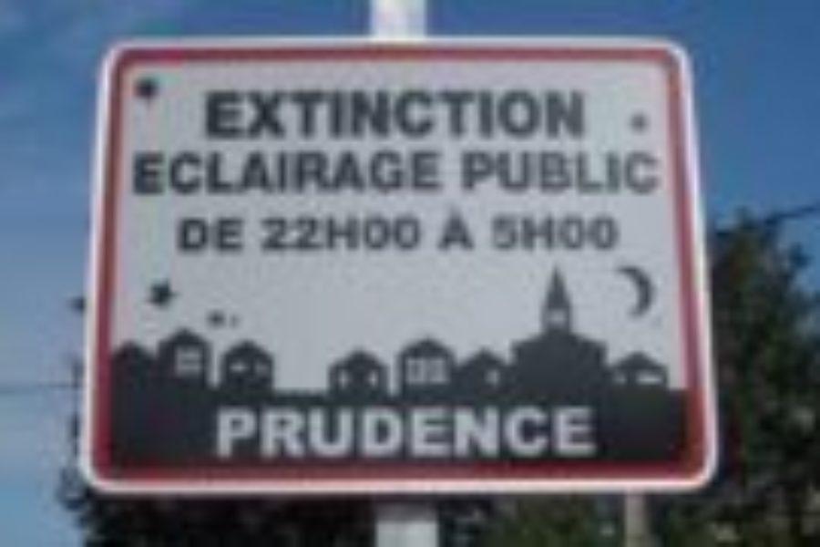 Un sondage pour l'extinction de l'éclairage public !